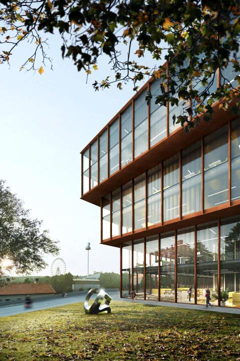 Förslag Kunskapens källa, arkitekttävling universitetsbiblioteket