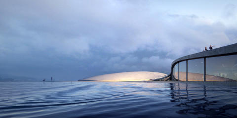Das Dach des größten Aquariums Nordeuropas in Oslo wird begehbar sein.