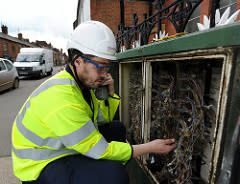 Superfast Worcestershire engineer at work