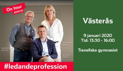 """Pressinbjudan """"En fika med professionen"""" i Västerås"""