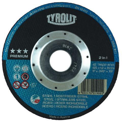 TYROLIT PREMIUM kapskiva 2in1 med Deep Cut Protection