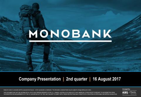 Monobank Q2 2017 Presentation