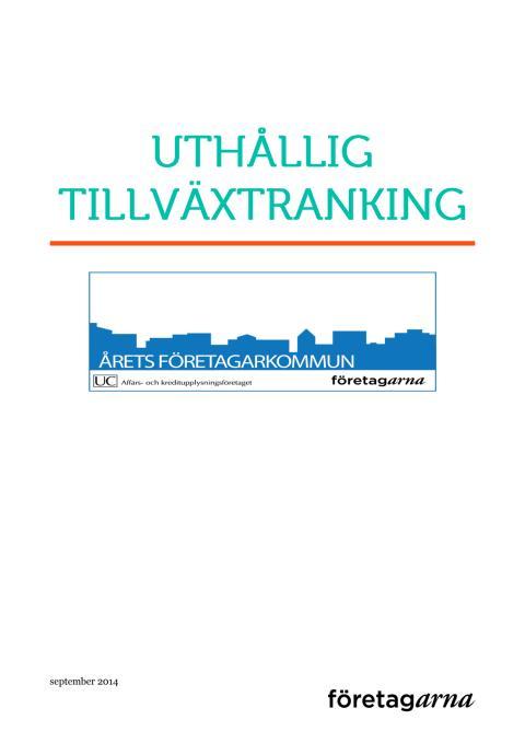 ÅFK Uthållig tillväxtranking 2014