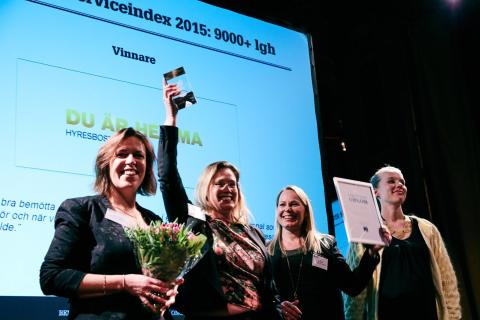 Hyresbostäder har bästa utvecklingen i kundnöjdhet i Sverige