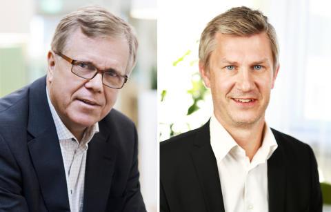Erik Hellqvist, vd Svensk Byggtjänst och Olle Samuelson, vd på BIM Alliance Sweden