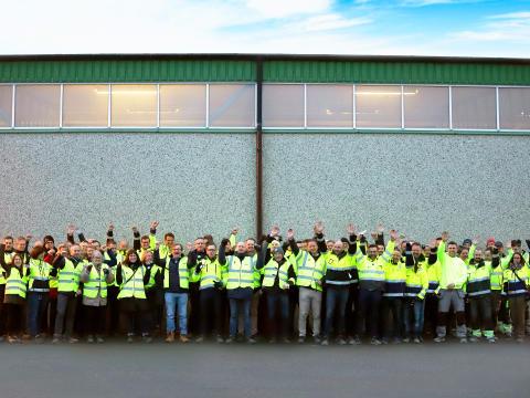 Finjas nye produksjonslinje for EPS-betong er innviet