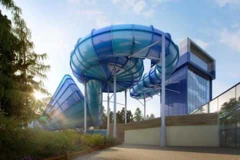 A 'world first' water ride inspired by the forces of nature launches at Center Parcs