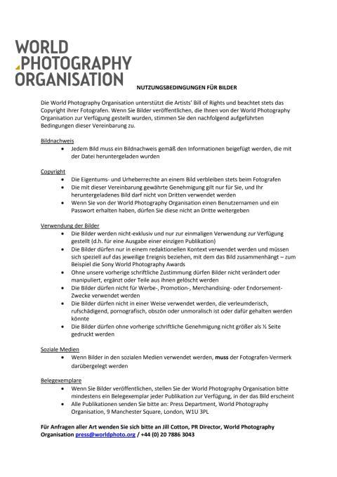 Sony_WPO_Bildnutzungsrechte und AGBs