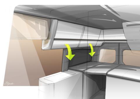 Crafter campingbus interiør