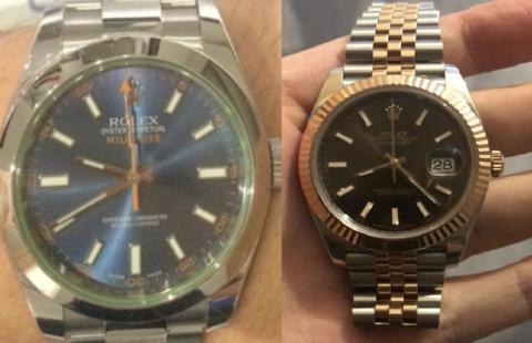 Help us locate stolen Rolex watches