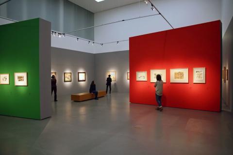 """Blick in die Ausstellung """"Nolde und die Brücke"""" im Museum der bildenden Künste Leipzig (2)"""