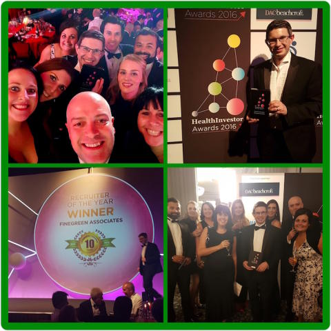 Finegreen named Recruiter of the Year at the HealthInvestor Awards 2016!