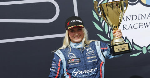 Podium spot for Jessica Bäckman, second weekend in a row