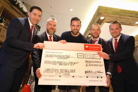 Santander spendet 7 500 Euro an die  Christoph Metzelder Stiftung
