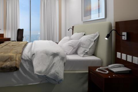 A70-WG på hotellrum.