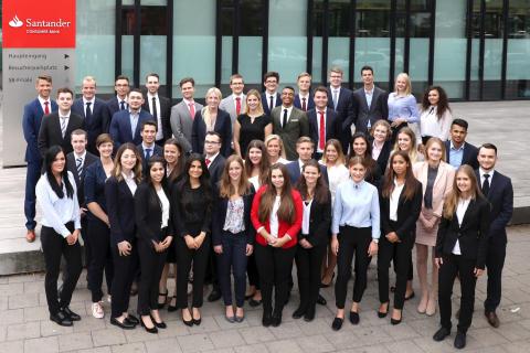 Santander Auszubildende 2017