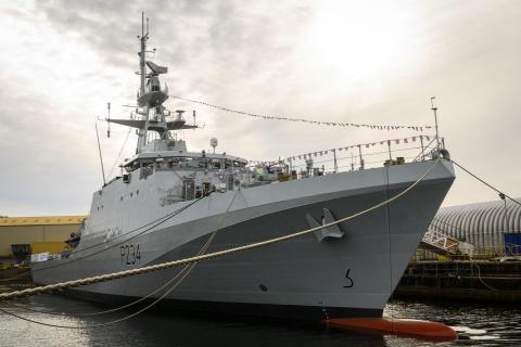 HMS Spey named at shipyard ceremony