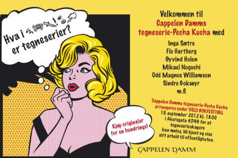 Velkommen til Cappelen Damms Tegneserie-Pecha Kucha under Oslo bokfestival!
