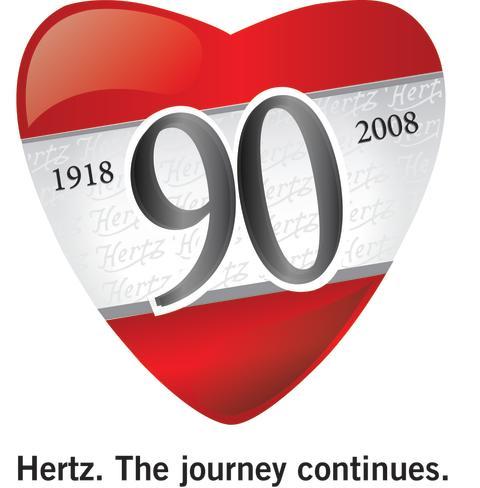 Hertz firar 90 år med stor rea på hyrbilar