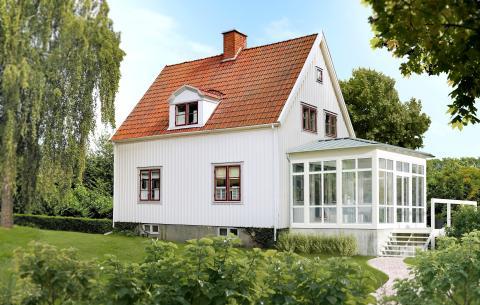 Nytt tak på gammelt hus