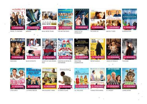 Get gir kundene julestemning med gratis filmer og julemusikk i desember