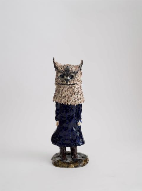 Klara Kristalova, Owl, 2009. Glazed stoneware. Courtesy of Alison Jacques Gallery