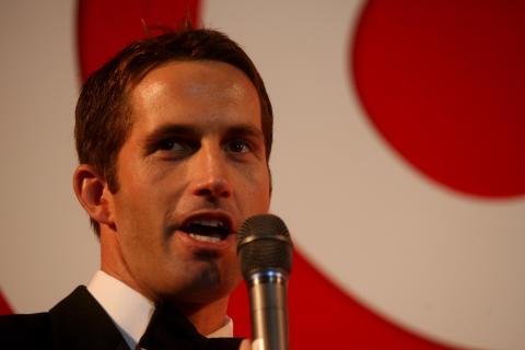 SportsAid alumnus Sir Ben Ainslie at the SportsBall in 2007