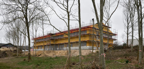 Rejsegilde på Rebild Kommunes nye administrationsbygning i Nørager