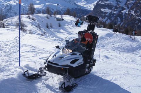 Google Snowmobile til Norge: