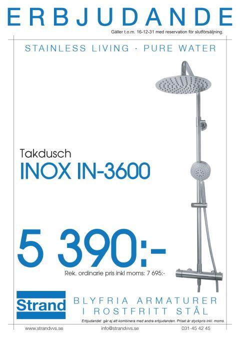 INOX-IN 3600 - Förlängt kampanjerbjudande