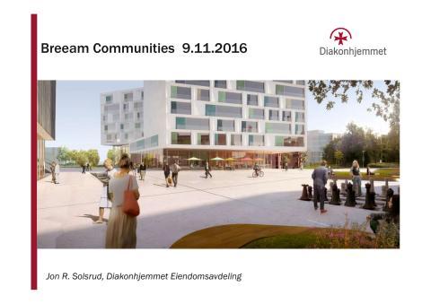 BREEAM Communities Diakonhjemmet - Jon R Smedsrud
