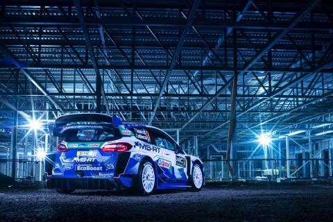 Fords rallybil Fiesta WRC presenteras med ny nittiotalsinspirerad design