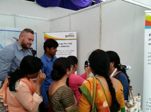 Gynius exhibiting at AOGIN INDIA 2016 in Patna