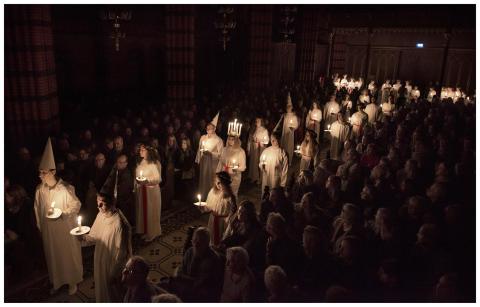 Luciakonsert, Johannes kyrka 2015. Foto Peter Segemark, Nordiska museet.