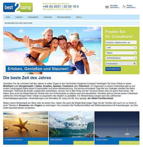best2camp organisiert den perfekten Familienurlaub