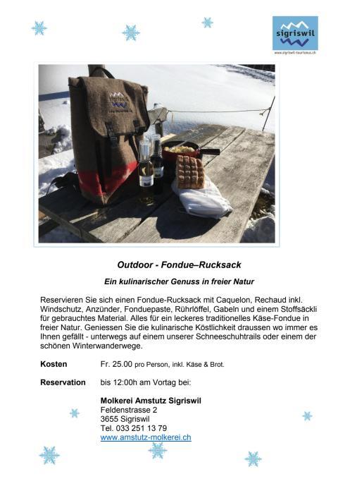 Flyer Fondue Rucksack