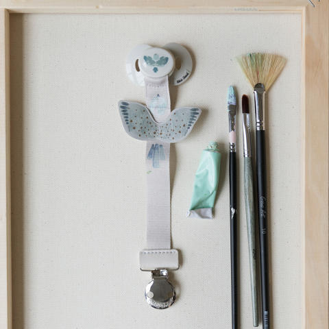 Elodie Details SS19  - Pacifierclip Watercolour Wings