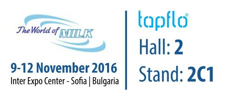 Tapflo Bulgaria exhibiting at World of Milk 2016 in Sofia, BG