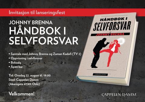 Lanseringsfest Håndbok i selvforsvar, Johnny Brenna