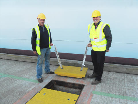 Port of Felixstowe, UK after installing composite trench covers