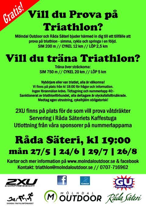 Prova på triathlon