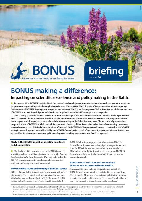 BONUS making a difference