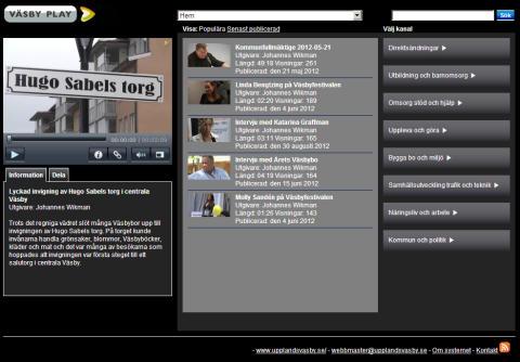 Ny plattform för webb-tv lanseras av Upplands Väsby kommun