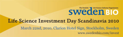 SwedenBIO Life Science Investment Day Scandinavia 2010