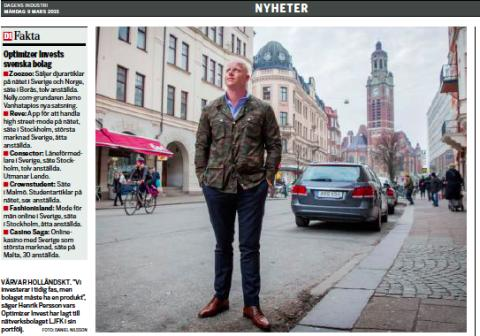 Optimizer och Henrik Persson i Dagens Industri