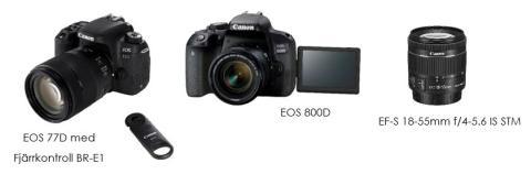 Kvaliteten talar för sig själv i Canons nya systemkameror och objektiv – EOS 77D och EOS 800D