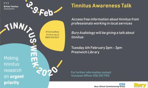 Free help and information during Tinnitus Awareness Week