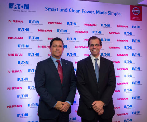 Left (Robert Lujan, Electric Vehicle Director, Nissan Global), Right (Cyrille Brisson, VP Eaton Electrial EMEA)