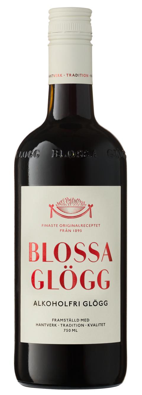 Blossa Alkoholfri Glögg, flaskbild