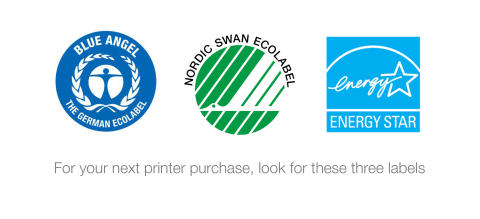 When choosing eco-friendly printing equipment, does it matter what the sticker says?